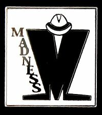 MADNESS  WHITE RECTANGLE ENAMEL PIN BADGE