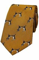 Gold Hares Boxing  Country Silk Hare Neck Tie Woven Silk Mens shooting Gift