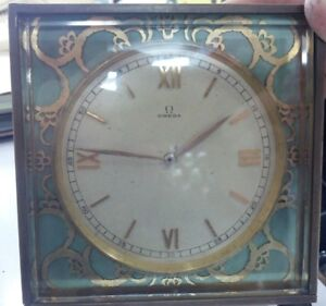 OMEGA Antique Vintage Table Mantel Clock 8 Days Power Reserve 20 Jewels Movement