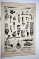 ILLUSTRATED LONDON NEWS SEPT. 1873, ANCIENT & CURIOUS PIPES, INT'L EXHIBITION