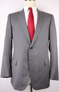 Dior Homme Gray Solid Wool Two Button Suit Size 42 Regular 36 34 Flat Front 42R