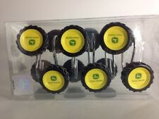 John Deere Shower Curtain Hooks Farm Tractor Tire Complete Set Of 12 In A Box
