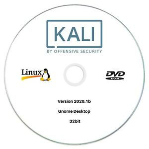 Kali Linux 2020.1b  32bit Bootable run Live or Install DVD Ethical Hacking