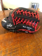 """Mike Trout Signed Nike Fielding Glove MLB Coa Autographed Angels """"The Catch"""""""