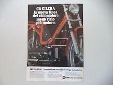 advertising Pubblicità 1978 GILERA CBA 50