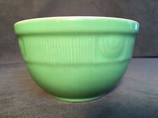 Vintage Hall pottery USA green nesting bowl - Art Deco Design Around The Top