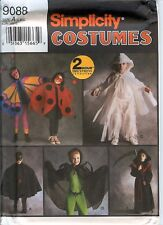 Simplicity 9088 CHILD 2 Hour Express Ladybug Ghost Costume Pattern UNCUT FF