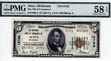 Altus, Oklahoma  NB of Commerce  $5 1929 Ty. 2  CH#13756  PMG 58 EPQ