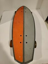 "Kryptonics 23"" Wide Mini Fat Cruiser Shape Skateboard Urethane Wheels Hawaiian"