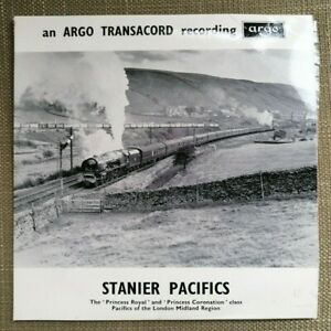 Stanier Pacifics Steam Trains Argo Transacord EAF 88 EP 1968 Vinyl Record