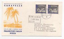 1964 GERMANY First Flight Cover FRANKFURT to NICE FRANCE Lufthansa LH178