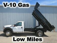 F550 Super Duty V-10 Gas Auto 11-Ft Dump Bed Body Haul Delivery Truck Low Miles