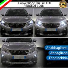 KIT FULL LED PEUGEOT 3008 SUV ANABBAGLIANTI ABBAGLIANTI FENDINEBBIA 6000K CANBUS