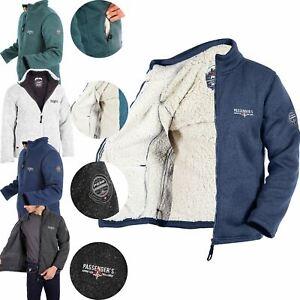 PASSENGER By M&S Mens Sherpa Fleece Lined Heavy Fleece Warm Hiking Jacket