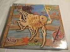 B.C. Bones Junior Collection 7 Seas 3-D Angel Fish Wooden Puzzle - NIB