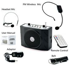 5W Voice Booster Amplifier+Remote Control+FM Wireless Microphone For Teachers