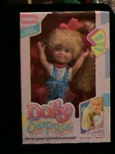Vintage 1987 Playskool Dolly Surprise Holly Working Hair Growing Doll in Box
