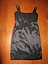 12 L Calvin Klein Dress Knee LENGTH BLACK office Business Church zip back NEW