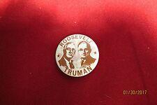 "Roosevelt/Truman Political 1968 Reproduction Button 1 1/2"""