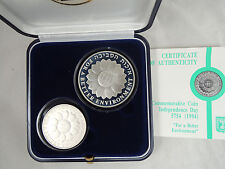 "1994 ISRAEL 46th ANNIVER. ""FOR A BETTER ENVIRONMENT"" PROOF+BU SILVER COINS SET"