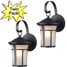 Textured Black Outdoor Patio/Porch Exterior Light Fixtures-Twin Pack :22-9692