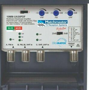 tv booster Masthead Amplifier FM/BI/VHF/UHF 30dB with 4G/5G 10mm-ua30pdf