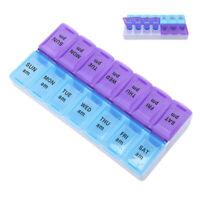 Holder 14 Storage Case Day Tablet 7 Grids Hot Pill Box Organizer Weekly Medicine