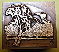 """HORSE RACING"" (National Hunt) PRINTING BLOCK."