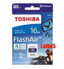 Toshiba 16GB FlashAir Sdhc Sd Wireless WIFI tarjeta clase 10 U3 4K Retail W-04