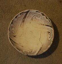 ANASAZI BLACK ON WHITE PUEBLO POTTERY BOWL WITH CERTIFICATE OF AUTHENTICITY