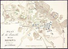 STRATÉGIE : PLAN de la BATAILLE de la MOSKOWA avec position des armées