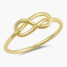 USA Seller Infinity Knot Ring Sterling Silver 925 Jewelry Yellow Gold Size 12