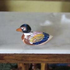 Artisan Miniature HAND PAINTED DUCK Dollhouse Fishing Decoy Statue Sculpture Toy