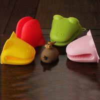 Hippo Silicone Heat-resistant Kitchen Oven Baking Tool Glove Pot Mitt Holder TK