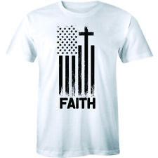 Faith Cross American Flag Christian Patriot Us Religious Gift Tee men's T-Shirt