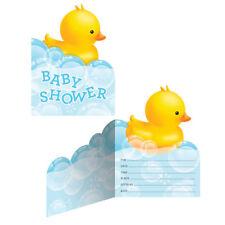 Bubble Bath Duck Baby Shower Invitations x 8