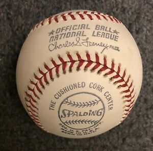 NMMT 1975 1976 Spalding National League Baseball Feeney F/Case Big Red Machine