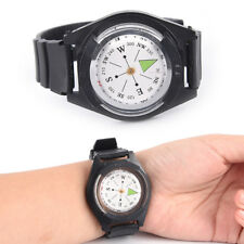 Tactical Wrist Compass Special For Military Outdoor Survival Watch Black Band PL