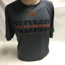 "Harley-Davidson Men's S/S Gray "" Garage Freedom"" Moisture wicking shirt Large"