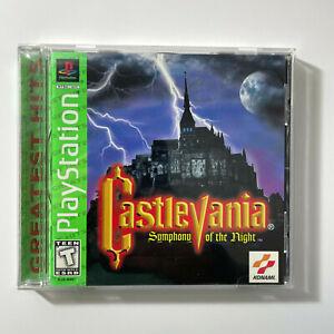 Castlevania: Symphony of the Night (PlayStation 1, 1998) PS1 CIB Greatest Hits