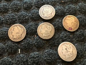 Worn Morgan Silver Dollar Lot