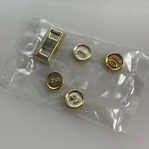 NEW LEGO 4 Metallic Gold Coins+1 Bar 1,2,5,10 Coins & ingot money treasure 97043