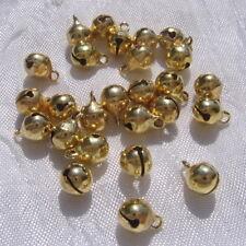 Lot 50 clochettes grelots breloques perles métal doré 9x6mm golden charms *O174A