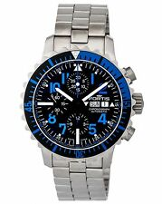 Fortis Marinemaster Aquatis Blue Day/Date Chronograph Men's Watch - 671.15.45.M