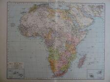 1896 grandi mappa vittoriana dell'Africa il Times ATLAS 1st Gen