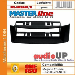 MASCHERINA AUTORADIO 1 DIN RENAULT MEGANE 1° SERIE FINO AL 2003. COLORE NERO.
