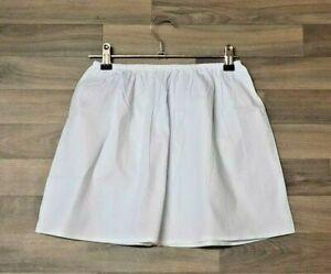 Black White 100% Cotton Underskirts UK Size 4 -20 MINI Half Waist Slip Petticoat