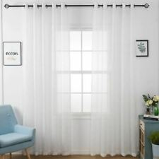 1 Pc Stripes Embroidered Voile Tulle Curtains for Living Room Kitchen Bedroom Mo