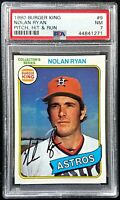 1980 Topps Burger King #9 Nolan Ryan PSA 7 Near Mint NM Card MLB Baseball HOF