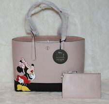 Kate Spade Disney Minnie Mouse Large Tote Bag & Wristlet Purse Handbag NWT